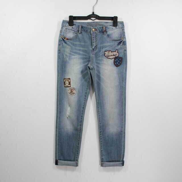 2014专柜小熊维尼熊正品ELAND衣恋/依恋靴裤 牛仔裤97822代购