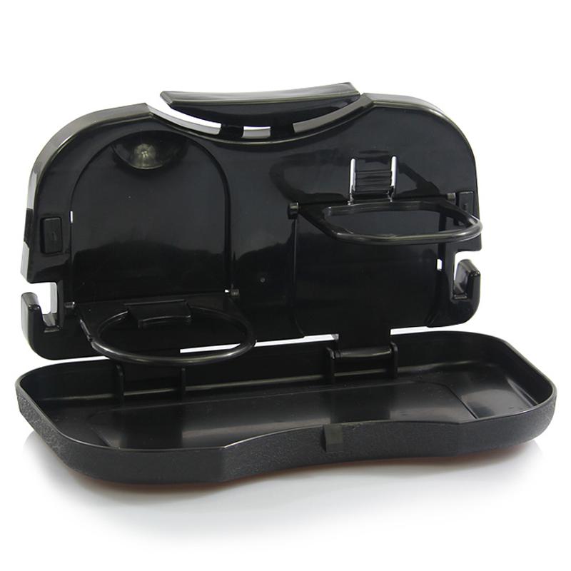 多功能饮料架 车载置物盘 可折叠车载小餐桌水杯架 汽车用品