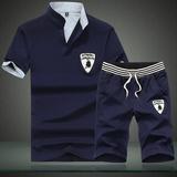 夏季新款运动休闲套装男短袖t恤运动服两件套基础款青少年男装潮