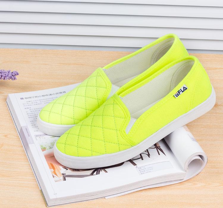 低帮帆布鞋女韩版潮牛筋底浅口学生帆布鞋厚底懒人鞋女护士鞋套脚