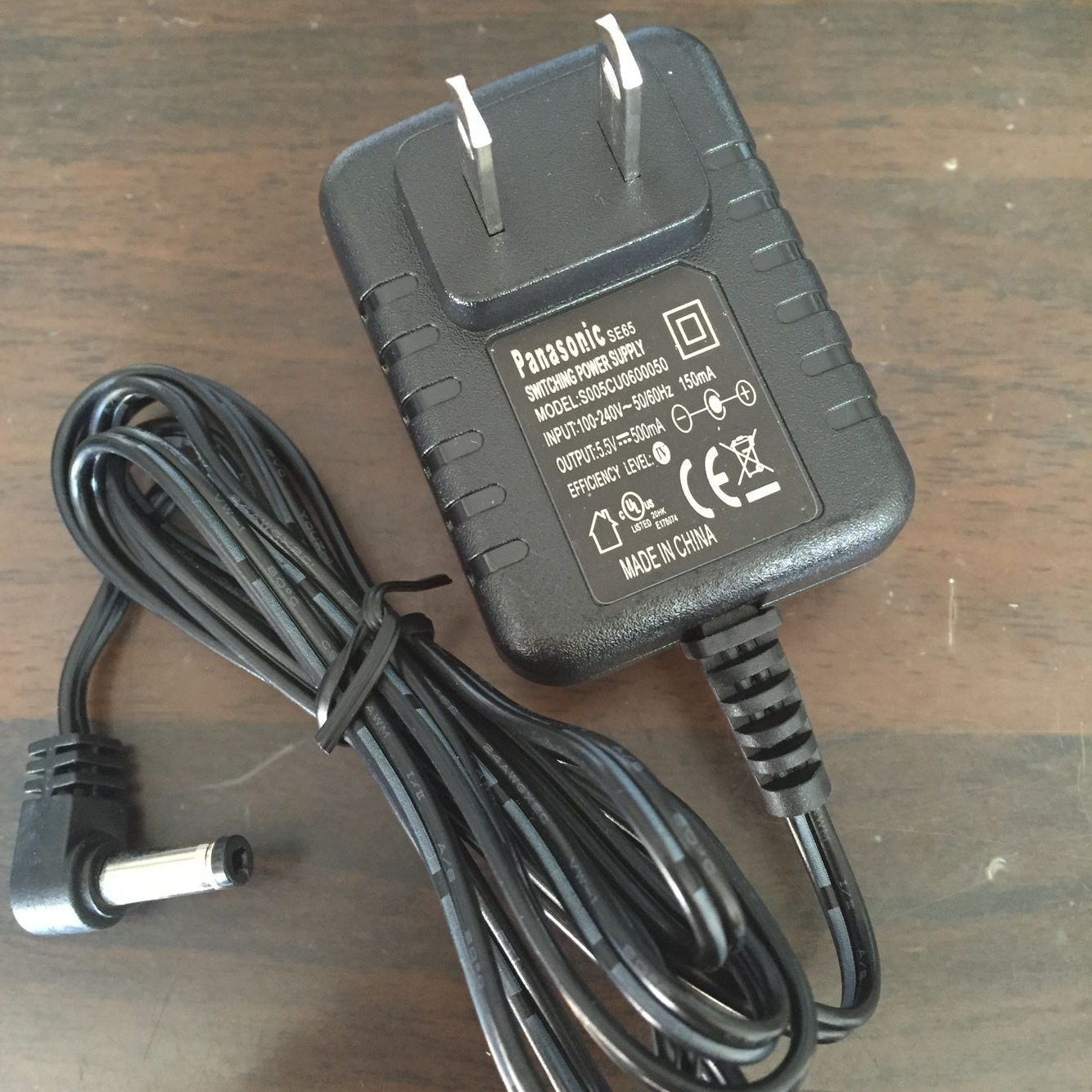 松下无绳电话机子母机电源适配器充电器SE65 220V 5.5V500MA