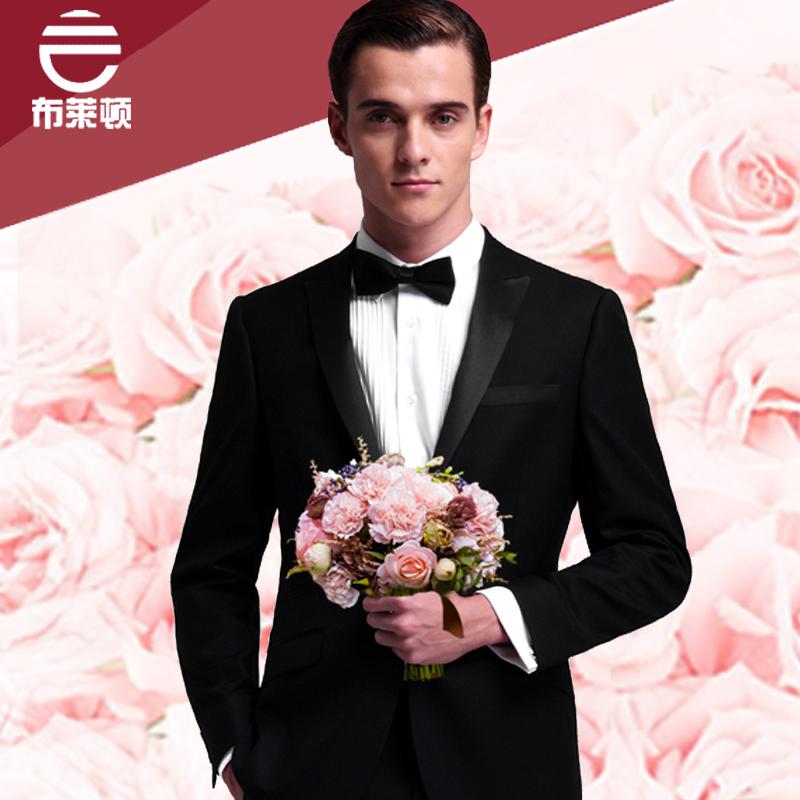 2014新款西服套装冬男士结婚新郎礼服布莱顿羊毛修身韩版婚礼西装