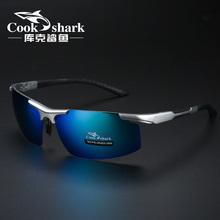库克鲨鱼男太阳镜偏光驾驶眼矩镜专用钓鱼镜高清看漂 cookshark