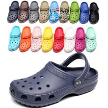 17夏季新款沙滩鞋洞洞鞋男女情侣透气防滑包头凉拖鞋男大码4647