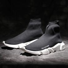 夏季英伦高帮休闲弹力袜子鞋情侣运动鞋巴黎鞋男鞋厚底增高鞋潮鞋