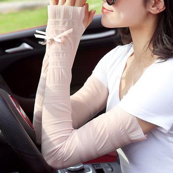 夏季冰袖防晒袖套女冰爽薄长款冰