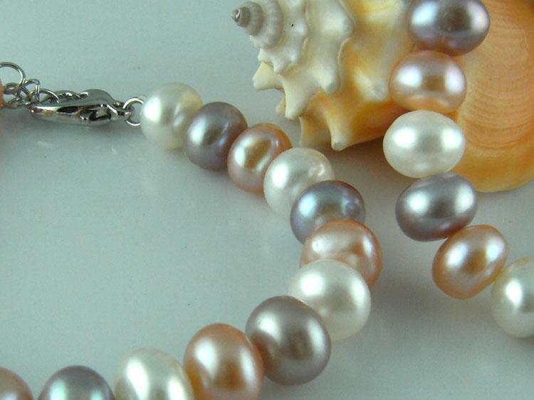 天然淡水珍珠手链混彩珍珠手链时尚可爱韩式低价促销七夕送老婆