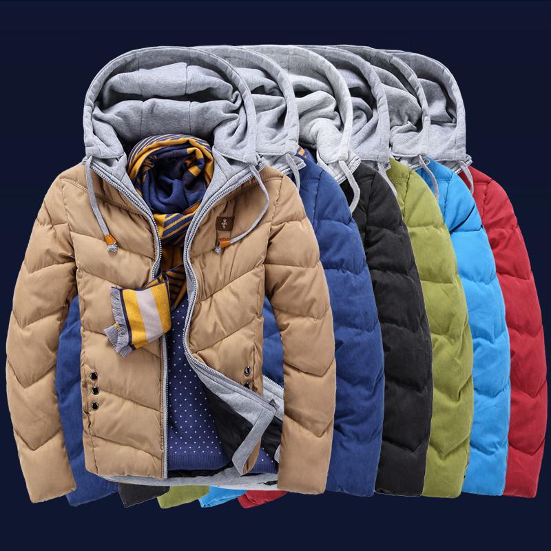 2014新款爆款棉衣 韩版修身男士棉衣外套 连帽加厚棉袄 货到付款