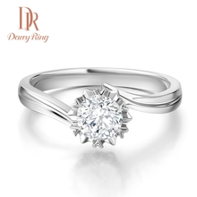 求婚结婚钻戒 DR戴瑞1克拉钻石戒指女戒白18K 正品 Ring Darry