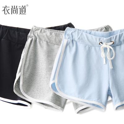[狂欢ing] 春夏季女装运动短裤女韩版休闲热裤女胖mm大码家居女裤子潮