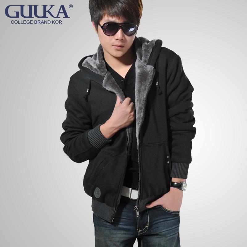 Guuka男装冬季衣服青少年男款冬装男士棉衣外套学生加厚潮男外套
