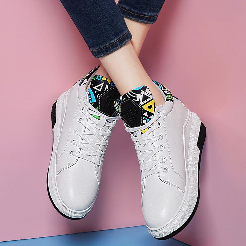 平底鞋子單鞋女鞋增高系帶春季運動鞋