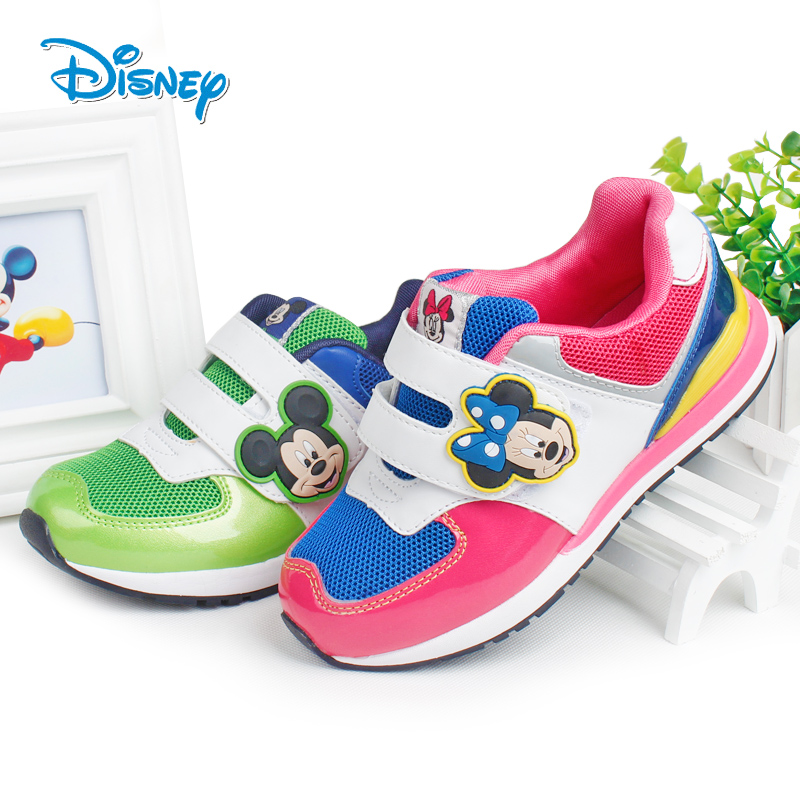 迪士尼 秋款宝宝男童鞋女童鞋儿童运动鞋透气网面儿童男童