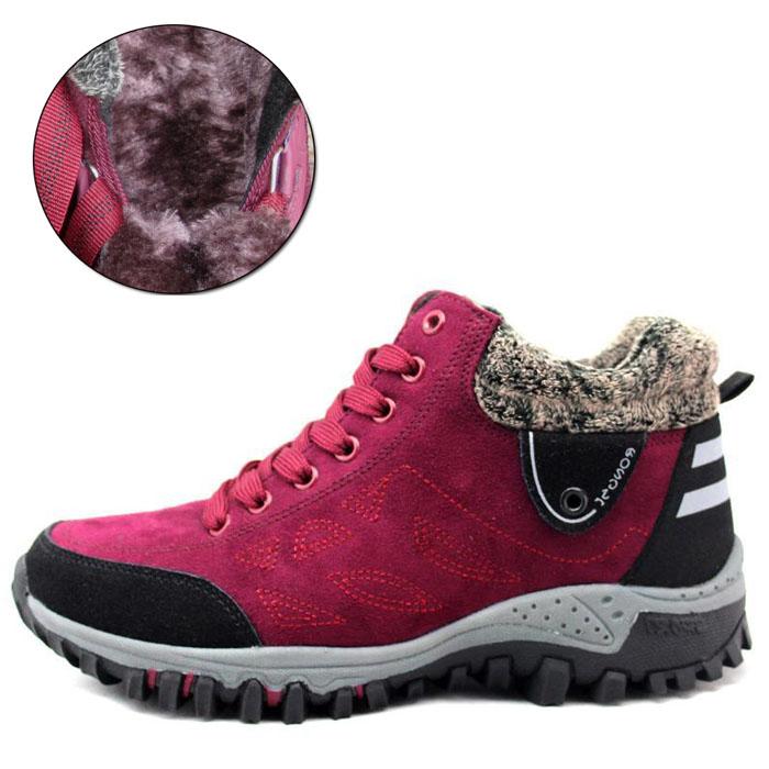 荣仕冬季新款运动棉鞋女式跑步鞋保暖加绒旅游鞋舒适软底妈妈鞋