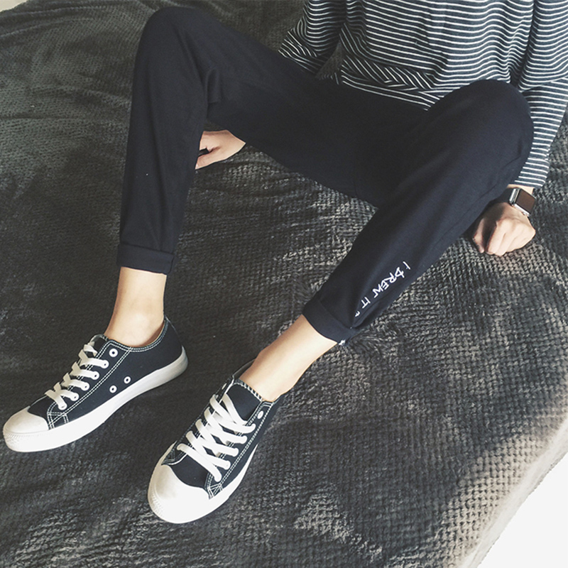 男士潮流小脚休闲弹力夏季修身青少年牛仔裤
