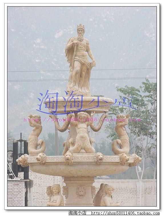 大理石石雕雕刻 大型欧式喷泉 人物喷泉 壁泉 壁炉
