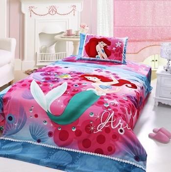 花之语 卡通活性印花单人床三件套-美人鱼床上用品特价1米2被套