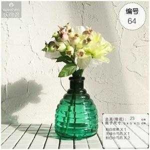 沃可恩WOOKEN花+瓶系列艺术插花整套玻璃花瓶仿真花