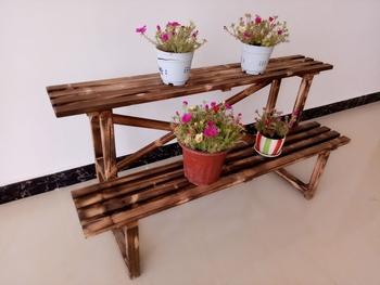 包邮碳化实木花架阳台花架防腐木