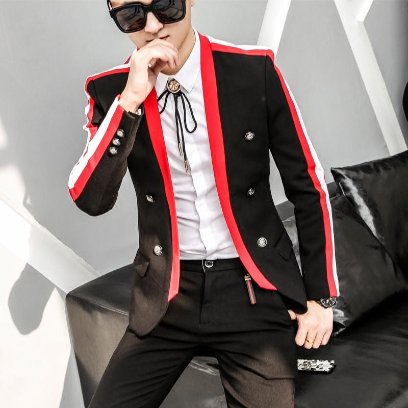 2016指男针男士韩版西服外套修身明星同款休闲西装男礼服小西装潮