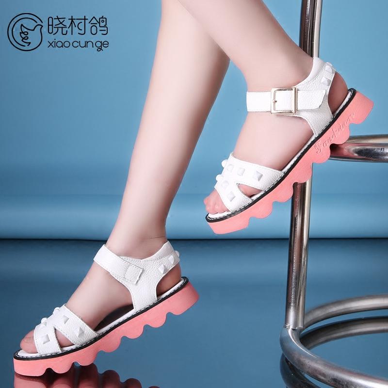女生[小女孩正品]小女孩美脚凉鞋就业小女孩穿凉鞋专业评测物流图片
