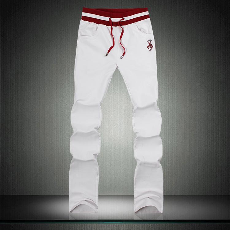 2012新款秋装男装时尚卫裤修身运动长裤子男士运动休闲裤 男 白色