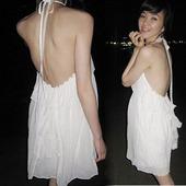 2015夏装韩国正品新款系带雪纺裙漏背裙夏性感女连衣裙限时打折