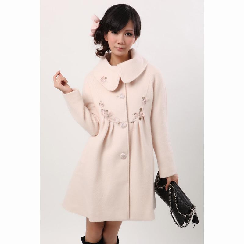 粉红玛丽款 特价羊毛大衣清仓处理 韩版修身显瘦款 特价处理