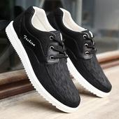2017春季工作鞋男士休闲鞋子黑色防滑透气老北京布鞋学生板鞋男鞋