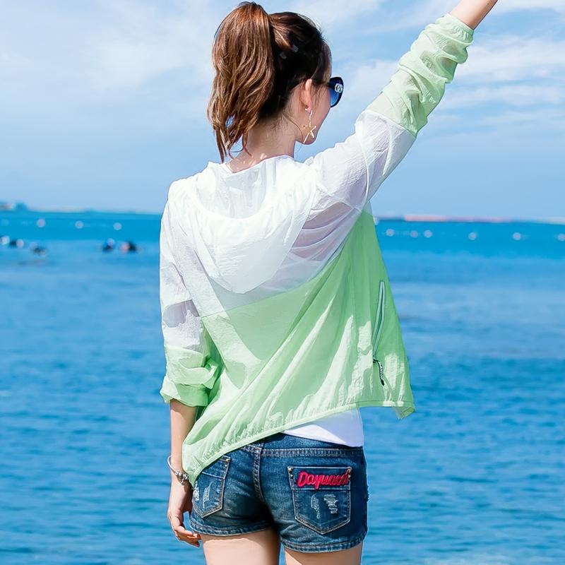 沙灘百搭短夏季外套防曬透氣空調超薄