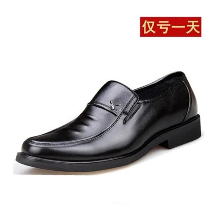 商务正装皮鞋男鞋中年爸爸鞋男士正品英伦流行酒店工作休闲鞋耐磨