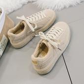 女鞋秋季2017新款鞋子韩版学生加绒棉鞋原宿风ulzzang百搭运动鞋