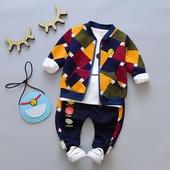宝宝加绒三件套装2017新款1-2-3-4岁男童秋装加厚婴儿童冬装韩版5