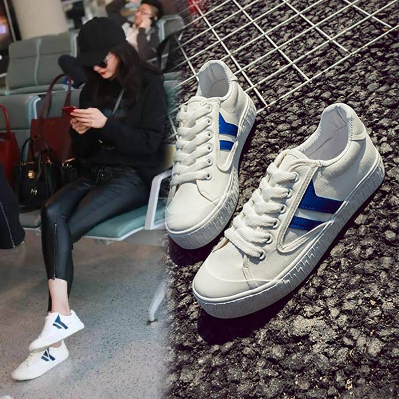 小白鞋杨幂发型同款v发型女生鞋回力韩版短发百图片女生脸帆布明星宽的图片