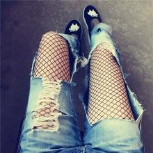 丝袜薄夏 袜子 渔网袜大网眼中小网眼连裤 镂空女性感防勾丝网格袜