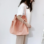 韩国东大门同款文艺帆布包女单肩包牛津布女包手提包购物袋托特包