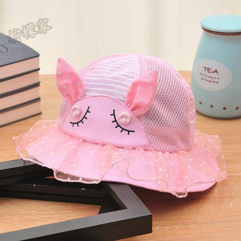 女童嬰兒太陽帽帽子公主盆帽春夏涼帽女孩寶寶遮陽帽