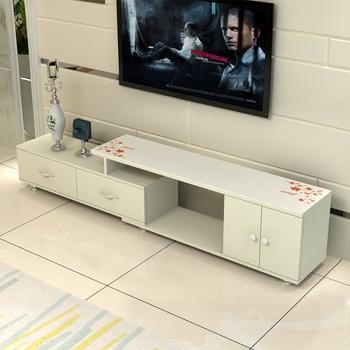 特价钢化玻璃电视柜茶几组合简约现代欧式小户型客厅伸缩电视机柜
