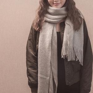 大围脖羊毛羊绒披肩围巾女男两用加厚秋冬季学生韩版百搭保暖纯色