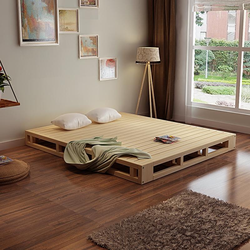 木板床床架子排骨架松木硬板床折叠床架1.5米1