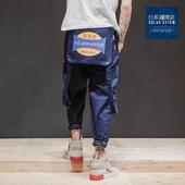 设计师款 重磅吊带裤 原创街头潮流工装裤 宽松休闲裤男 日系长裤