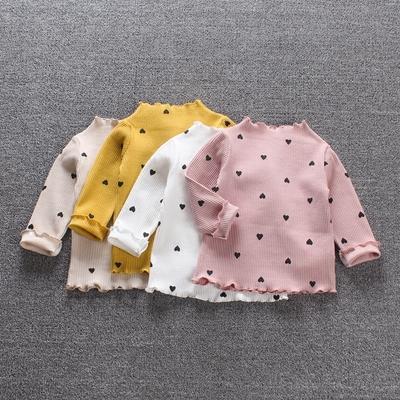 精灵女童秋装宝宝长袖打底衫1-2-3岁春秋纯棉t恤百搭婴儿衣服公主