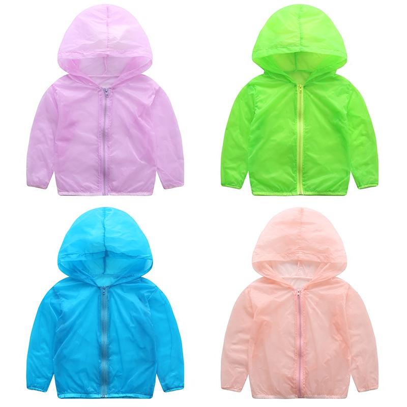 女童夏季透气冲锋童装轻薄男童儿童宝宝防晒夏装长袖外套衣服