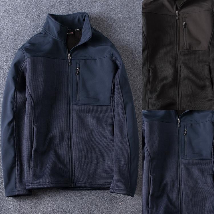 男士户外级 2017秋冬新款 男士时尚户外运动休闲外套加绒棉衣夹克