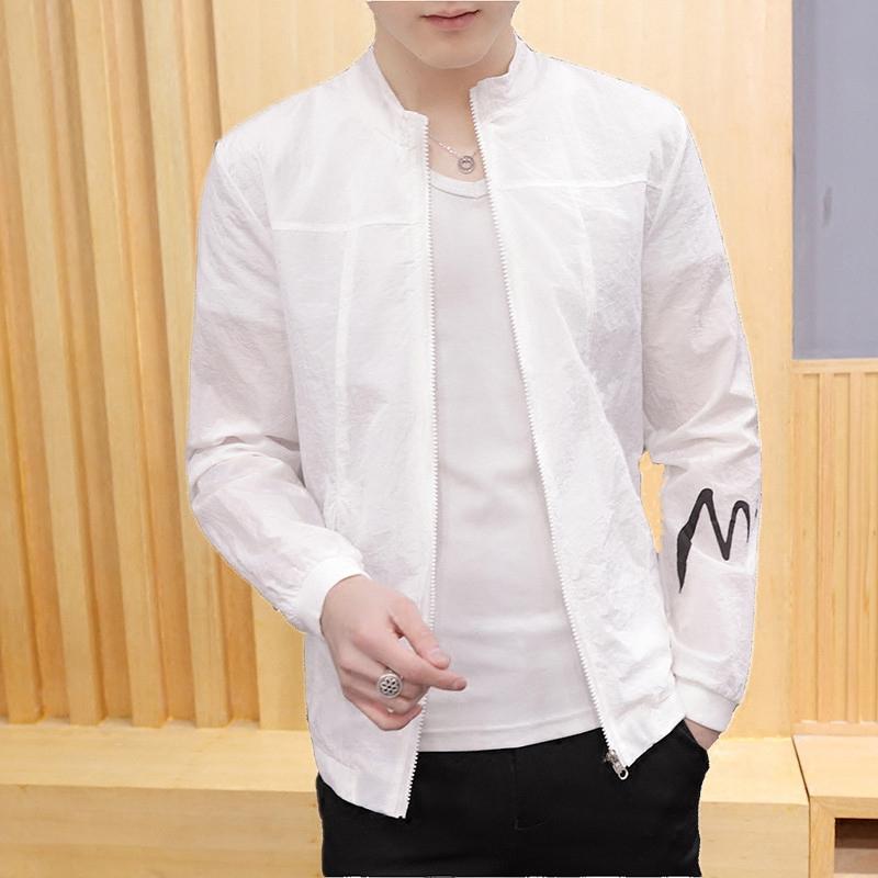 防曬青年夾克夏季戶外男韓版潮流超薄寬松外衣